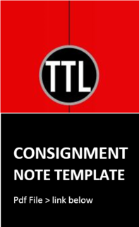 Consignment Note - PDF template